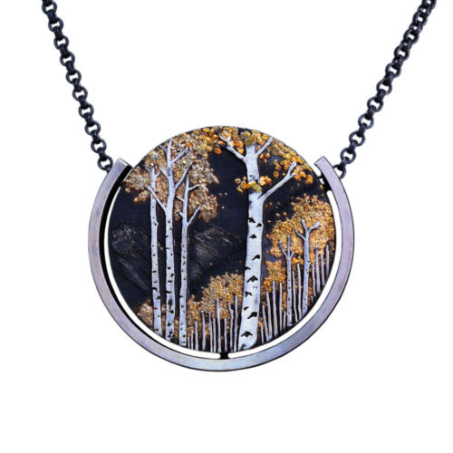 P246 Aspens and Mountains Pendant