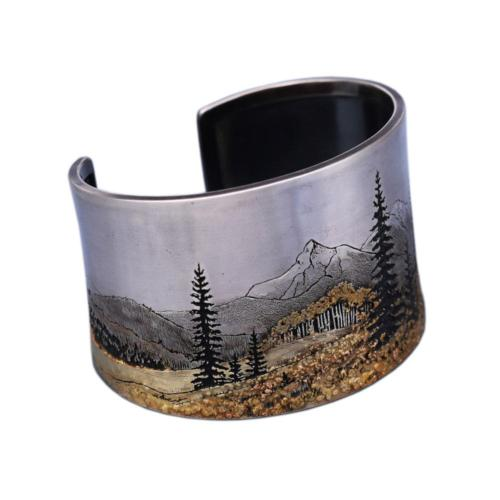 105 Mountain Landscape Cuff